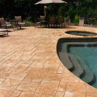 Grand Ashler Slate - sample of custom concrete Calgary stamped concrete textures, designs and patterns