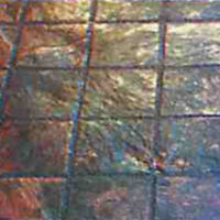 6 inch Grouted Slate Tile - sample of custom decorative concrete available from Access Concrete Calgary, stamped textures, colours, designs and patterns