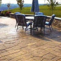 Bavarian Castle Stone 2 - sample of custom decorative concrete available from Access Concrete Calgary, stamped textures, colours, designs and patterns