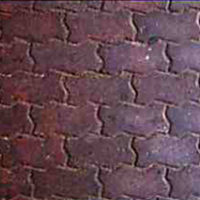 Brick Paver Running Bond - sample of custom decorative concrete available from Access Concrete Calgary, stamped textures, colours, designs and patterns