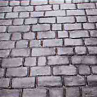 Country Cobblestone - sample of custom decorative concrete available from Access Concrete Calgary, stamped textures, colours, designs and patterns