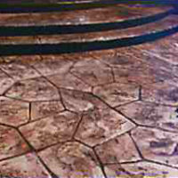 Flagstone - sample of custom concrete Calgary stamped concrete textures, designs and patterns