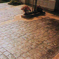 London Cobblestone - sample of custom concrete Calgary stamped concrete textures, designs and patterns