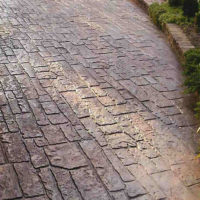 Random Cobblestone - custom stamped concrete textures, designs and patterns, Calgary